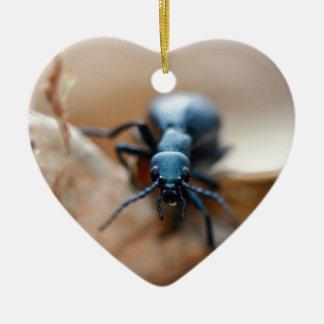 Anderes weltliches Insekt Keramik Herz-Ornament