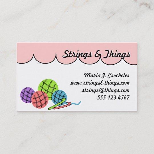 ändern Sie Die Farbe Häkeln Sie Garnbälle Visitenkarte