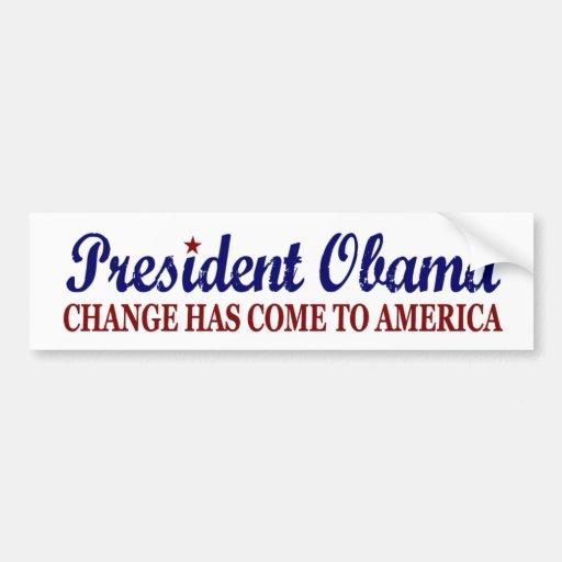 Ändern Sie ist gekommen nach Amerika (Obama) Auto Sticker