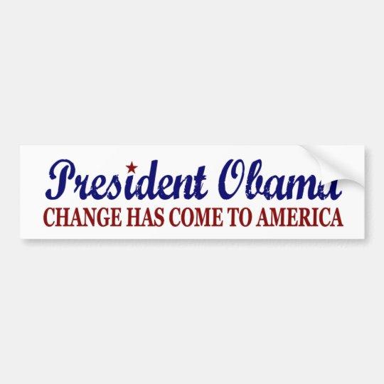 Ändern Sie ist gekommen nach Amerika (Obama) Autoaufkleber