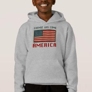 Ändern Sie ist gekommen nach Amerika Obama Hoodie