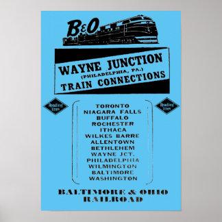 Ändern Sie Züge an Wayne-Kreuzung 1950 Poster