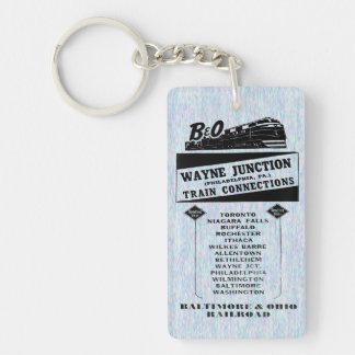 Ändern Sie Züge an Wayne-Kreuzung 1950 Schlüsselanhänger