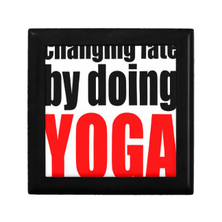 ÄNDERNDES SCHICKSAL, das Yoga faulen Schmuckschachtel