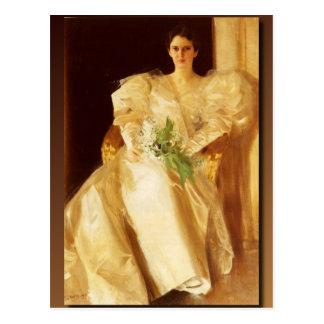 Anders Zorns Porträt von Frau Eben Richards Postkarte