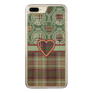 Anderson-Clan karierter schottischer Tartan Carved iPhone 8 Plus/7 Plus Hülle