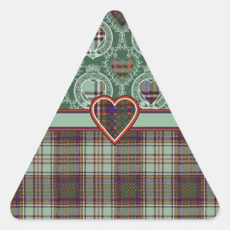Anderson-Clan karierter schottischer Tartan Dreieckiger Aufkleber