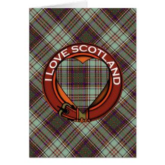 Anderson-Clan karierter schottischer Tartan Karte