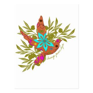 Änderung, Frieden, Hoffnung {Ölzweig und Taube} Postkarte