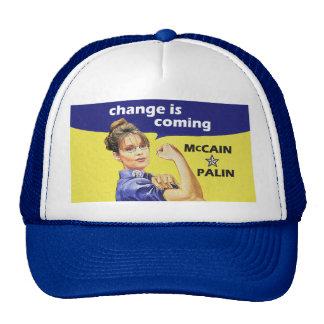 """Änderung ist kommendes"" McCain/Palin Republikaner Retrokultcap"