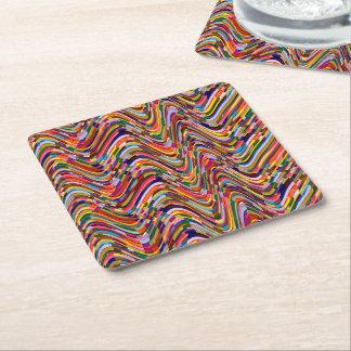 Änderungsfarbe der Schablone DIY ADDIEREN Rechteckiger Pappuntersetzer