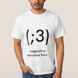 Andeutendes Manatisgesicht T-shirt