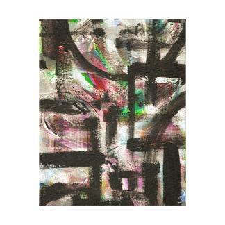 Andeutung der Frühling-Hand gemalten abstrakten Leinwanddruck