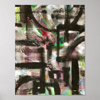 Andeutung der Frühling-Hand gemalten abstrakten Poster
