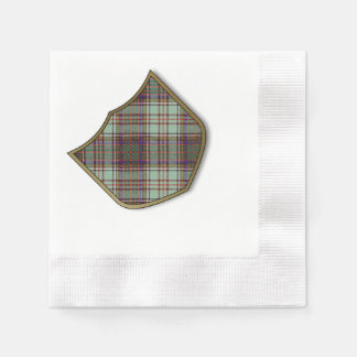 Andison Clan karierter schottischer Kilt Tartan Serviette