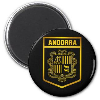 Andorra-Emblem Runder Magnet 5,7 Cm