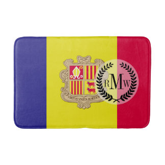 Andorra-Flagge Badematte