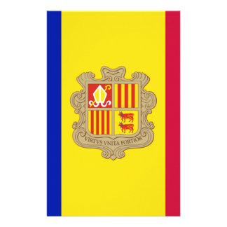 Andorra-Flagge Briefpapier