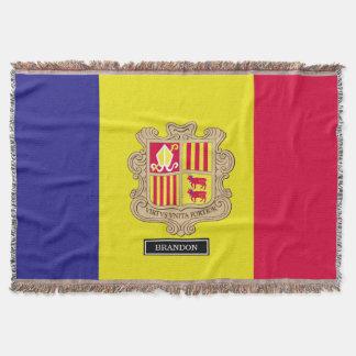 Andorra-Flagge Decke