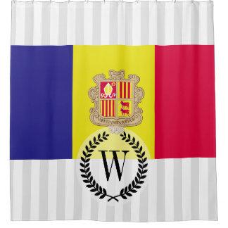 Andorra-Flagge Duschvorhang