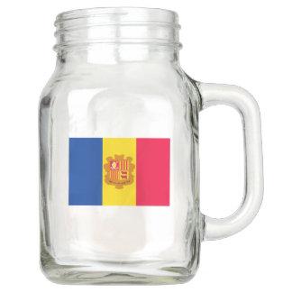Andorra-Flagge Einmachglas