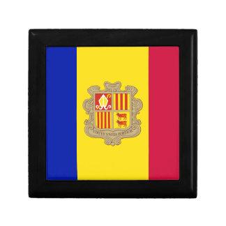 Andorra-Flagge Erinnerungskiste