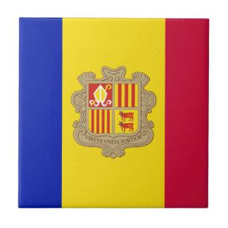 Andorra-Flagge Fliese