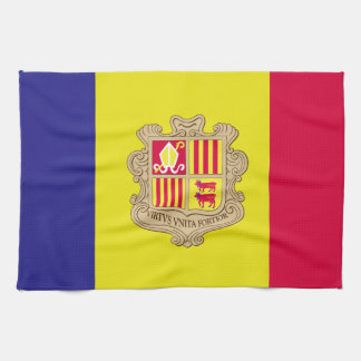 Andorra-Flagge Geschirrtuch