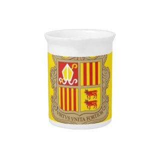 Andorra-Flagge Getränke Pitcher