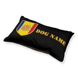 Andorra-Flagge Haustierbett