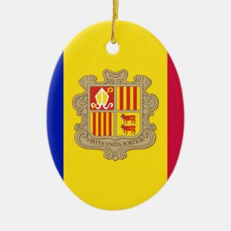 Andorra-Flagge Keramik Ornament