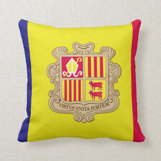 Andorra-Flagge Kissen