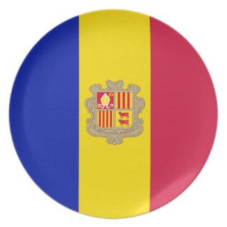 Andorra-Flagge Melaminteller