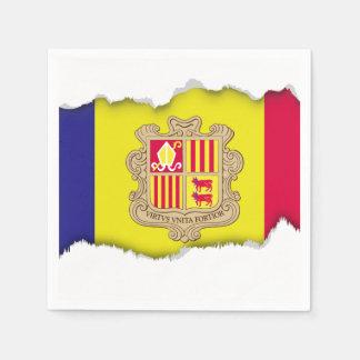 Andorra-Flagge Papierserviette