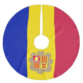 Andorra-Flagge Polyester Weihnachtsbaumdecke
