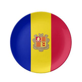 Andorra-Flagge Porzellanteller