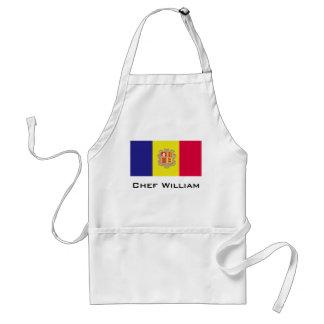 Andorra-Flagge Schürze