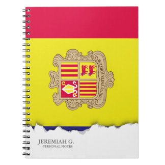 Andorra-Flagge Spiral Notizblock