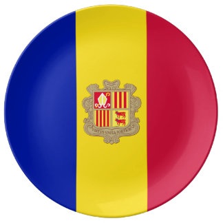 Andorra-Flagge Teller