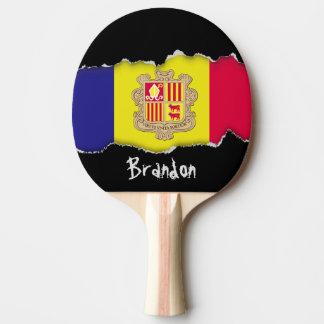 Andorra-Flagge Tischtennis Schläger