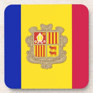 Andorra-Flagge Untersetzer