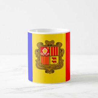 Andorra-Flaggenkaffee Tasse