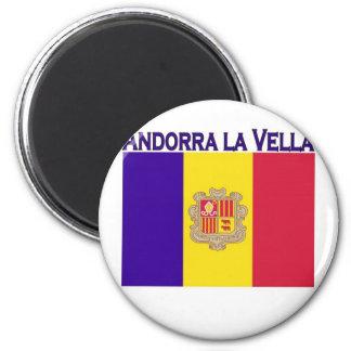Andorra-La Vella Runder Magnet 5,1 Cm