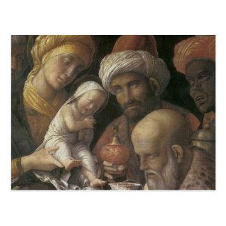 Andrea Mantegna-Verehrung der Weisen Postkarte