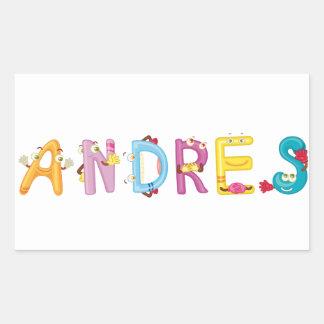 Andres Aufkleber