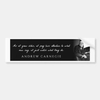 Andrew Carnegie - während ich älter wachse, zahle Autoaufkleber