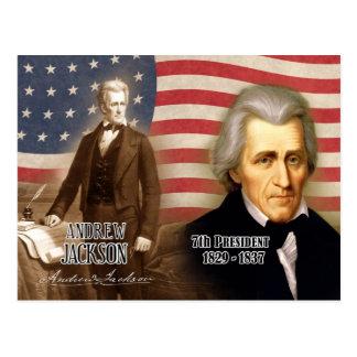 Andrew Jackson - 7. Präsident der US Postkarte