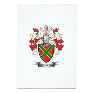 Andrews-Familienwappen-Wappen 8,9 X 12,7 Cm Einladungskarte