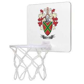 Andrews-Familienwappen-Wappen Mini Basketball Ringe
