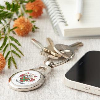 Andrews-Familienwappen-Wappen Silberfarbener Oval Schlüsselanhänger